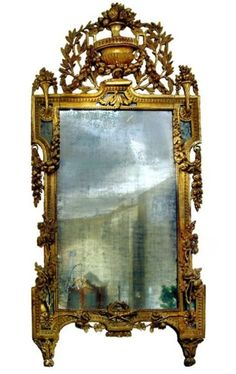 French Louis XVI giltwood mirror. In a word, stunning.