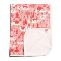 Winter Water Factory Lightweight Blanket | Winter Forest Red