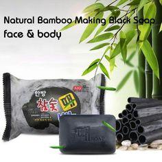 200g anti-aging bamboo charcoal handmade soap skin whitening soap blackhead remover acne treatment face wash bath skin care A4