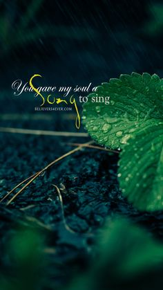 Believers4everMobile wallpapers · You gave my soul a #song to sing. Free #Christian lock screen #