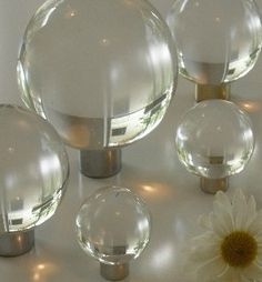 Lucite Ball Knobs
