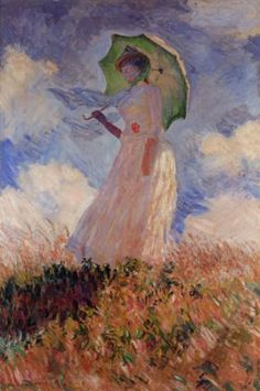 Claude Monet - art print, poster - Woman with a Parasol, looking Left