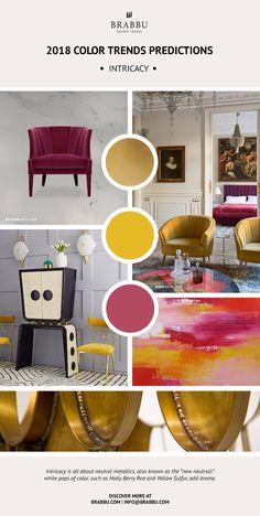 Trend Alert! Here Are The 2018 Color Trends Predictions: Intricacy // Interior Design Trends. Pantone Colors. // #colortrends #pantone #trends Read more: https://www.brabbu.com/en/inspiration-and-ideas/materials/trend-alert-2018-color-trends-predictions