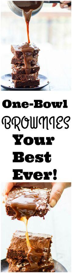 Rich, moist brownies that are so simple you'll never buy a box again! #fairtrade #fairher