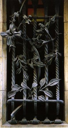 Wrought: shaped, twisted, bent, formed, fashioned, created from raw iron...