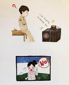😂😂😂 this part tho ❤ Big Boss x Beauty Desendents Of The Sun, Descendants Of The Sun Wallpaper, Ban Anime, Song Joong Ki Birthday, Sun Song, Korean Drama Series, Kbs Drama, Cute Couple Art, 22 November
