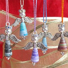 Paper Beads: Quick, Easy & Low Cost. But Don't Underestimate the Results: Make Paper Bead Angels