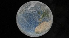 """June 15, 2012: Led by Earth's endless quest to equalize the dispersion of heat, winds whip around the world in this NASA-created image, a still capture from a 4-minute excerpt of """"Dynamic Earth: Exploring Earth's Climate Engine,"""" a fulldome, high-resolution movie playing at planetariums around the world.  Source: NASA's Goddard Space Flight Center"""