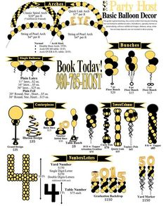Great infographic about different types of balloon centerpieces and how many balloons you need for each one. Balloon Columns, Balloon Garland, Balloon Arch, Balloon Ideas, Balloon Decorations Party, Balloon Centerpieces, Party Themes, Baloon Decor, Party Ideas