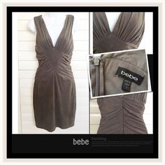 Bebe Microsuede Stretch Dress