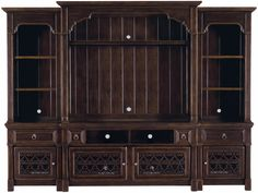 Bernhardt Furniture Pacific Canyon Entertainment Console and Deck with Pier Units
