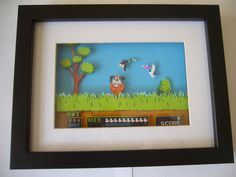 Duck Hunt 3D Shadow Box Diorama Art NES Nintendo by 33miniatures