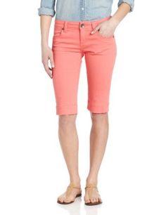 KUT from the Kloth Women's Wide Hem Colored Denim Bermuda Short, Melrose Tangerine, 4 KUT from the Kloth. $68.00