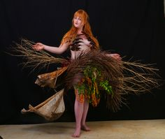 """""""The Birth Of Fashion Revisited"""" project of foliage couture inspired by the exuberant nature of Kauai.  Photography: Gilles Larrain (www.gilleslarrain.com) Model: Rachel Gauthier"""
