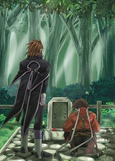 Tags: Anime, Grave, Tales of Symphonia, Kratos Aurion, Lloyd Irving, Parents, Bushes