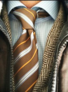 Layered with patterns.  ☆Men's Style
