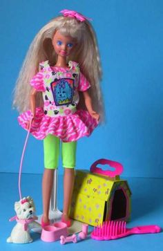 Pet pals Skipper, Barbie's baby sister. '91.