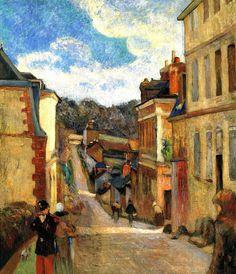Paul Gauguin:  La Calle Jouvenet à Rouen (1884)