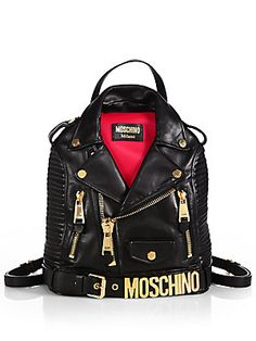 Moschino Leather Jacket Backpack $2285.