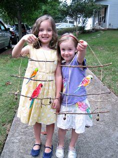 Super Bird Crafts For Kids Mobiles Ideas Projects For Kids, Diy For Kids, Crafts For Kids, Kids Nature Crafts, Art Projects, Summer Crafts, Fun Crafts, Shape Crafts, Bird Mobile