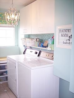 Do my shoes fit in the laundry room where that back shelf is? I think yes...also can pain the shelves with a faux chandelier since I refuse to get rid of my fan. (Its hot I live in Tx)