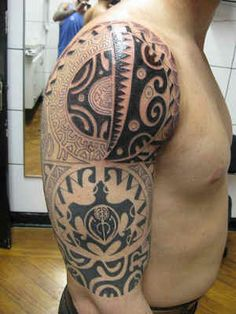Tribal Shoulder Tattoos for Men are highly preferred because of the perfect location that helps create a remarkable masterpiece.