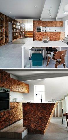 OSB Platten innenausbau küchenfront