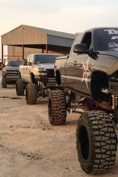 yup love jacked up trucks I want either a jacked up Chevy or jeep wrangler....decisions decisions....we already have a jacked up ford what fun is it to both have same vehicle! Haha