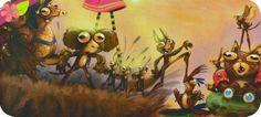 Patatra la p'tite sorcière et les crapauds Texte de Monique Aloujes Illustrations de Florian Le Priol Publié en 2014 par les éditions Karibencyla