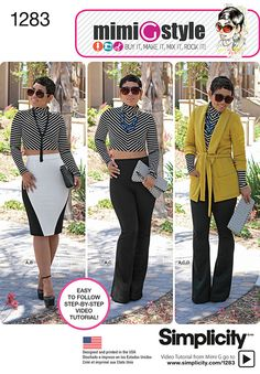 Simplicity - Misses' Unlined Jacket, Knit Top, Pants and Skirt - 1283 (Mimi G Style) *I need to get this*