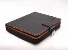 Item No.:8002 Genuine leather multi-functional portfolio & iPad case for iPad1,iPad2,iPad3 in black