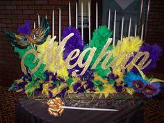 Mardi Gras name centerpiece