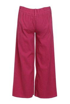 c59da6294b4c05 Buy UFO Hot Pink Solid Pants for Girls Clothing Online   Tata CLiQ