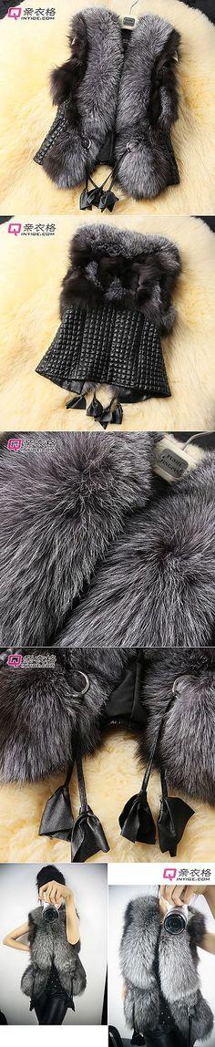 2013 Короткая дизайн женский лисий  жилет кожаный жилет верхняя одежда плюс размер-inLeather & замши от одежды и аксессуаров на Aliexpress.com | мой ком | Постила