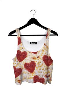 Pizza Hearts Crop Top by Beloved Shirts