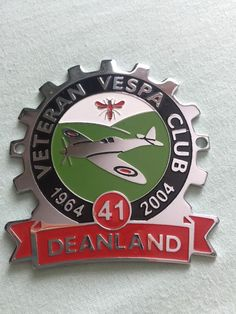 Vespa Cog Badge 2004 Deanland  Veteran Vespa Club Rally