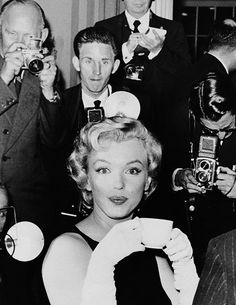 "beauvelvet: "" ""Marilyn Monroe during a press conference at the Savoy Hotel in London, 1956. "" """