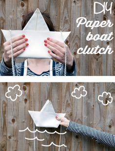 .:* L - Make this adorable paper boat purse. | 33 Irresistibly Spring DIYs