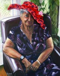 """FTOP: """"Princess Ann of the Red Hat Society"""". She wears that hat LIKE A BOSS!"""