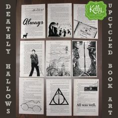 Harry Potter Deathly Hallows 7 Upcycled Book by kellydesigncompany