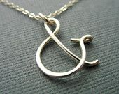 sweet ampersand necklace
