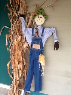 Handmade scarecrows, for sale at the Frontier Town Arts & Crafts Mall.