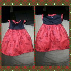Baby girl's black and red Christmas dress Size nb nTICing dEsigns $30
