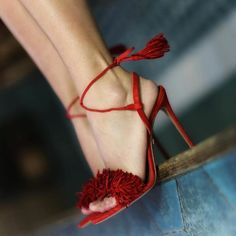 "11.1k Likes, 90 Comments - AQUAZZURA by Edgardo Osorio (@aquazzura) on Instagram: ""On the edge of…glory! 'The Wild Thing Sandals' in red are available at AQUAZZURA.COM…"""