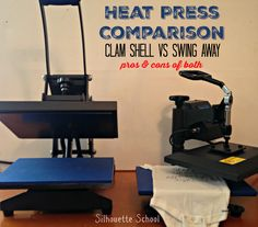 I think it's about time we do a heat press comparison around here! I know lots of you want to know which heat press is best and so today I'm going to go through the pros and cons of a swing away vs a