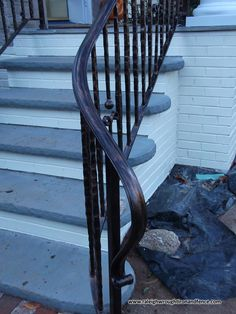 Wrought iron guard body for indoor or outdoor steps
