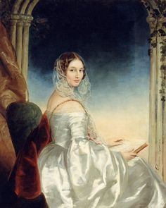 Portrait of Countess Olga Orlova-Davydova, born Princess Bariatinsky (1814-1876) (c.1840). Christina Robertson (Scottish, 1796-1854).