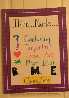 Simply 2nd Resources: Creative Tuesday #5 ~ Think Marks