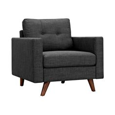 The Graham Armchair in Gray invites you to sit back and relax. Its clean lines and naturally sloping style tempt you to get off your feet and take a seat. The modern shape and sturdy construction make ...  Find the Graham Armchair in Gray, as seen in the The American Modernist Collection at http://dotandbo.com/collections/the-american-modernist?utm_source=pinterest&utm_medium=organic&db_sku=109464