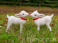 羊毛フェルト 子ヤギ|morin工房ー羊毛フェルト人形